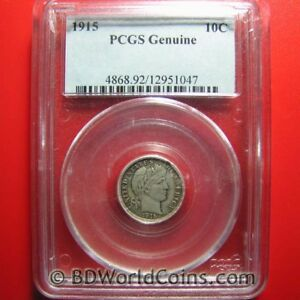 1915-BARBER-DIME-10-CENTS-PCGS-GENUINE-HIGHLY-COLLECTABLE-USA-10c-COIN