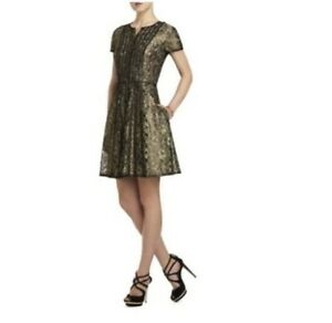 Image Is Loading New Bcbg Max Azria Black Gold Galine Lace