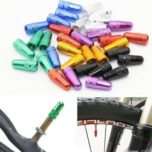5X Rainbow Bicycle Aluminum High Pressure Cap Presta Valves Tyre Stem Dust Cover