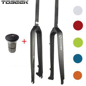 Starrgabel-Trekking-Carbon-26-27-5-29-Scheibenbremse-6-Farbe-Gabelversatz-39mm
