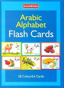 Details about Arabic Alphabets English Pronunciation Flash Cards Learn  Children Kids Colorful