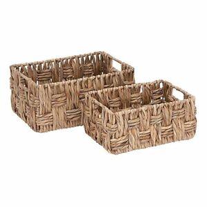 Rectangular-Wicker-Storage-Basket-Set