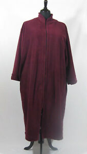 8880a326540 Plus Size Polar Fleece Dressing Gown Zip Front s.18 20 Australian ...