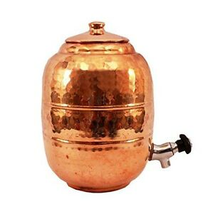 Hammered 5 liter 100 pure copper water dispenser storage for Copper water tank