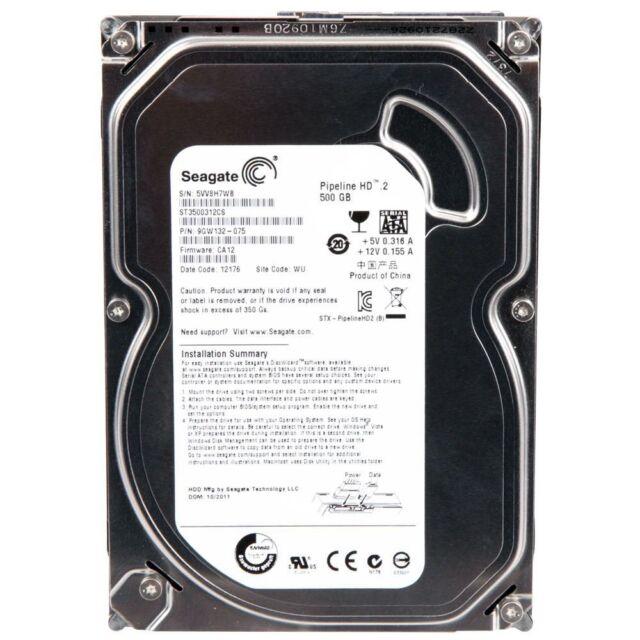 Seagate Pipeline 500gb 3 5'' 5900rpm Slim Hard Drive HDD ST3500312CS
