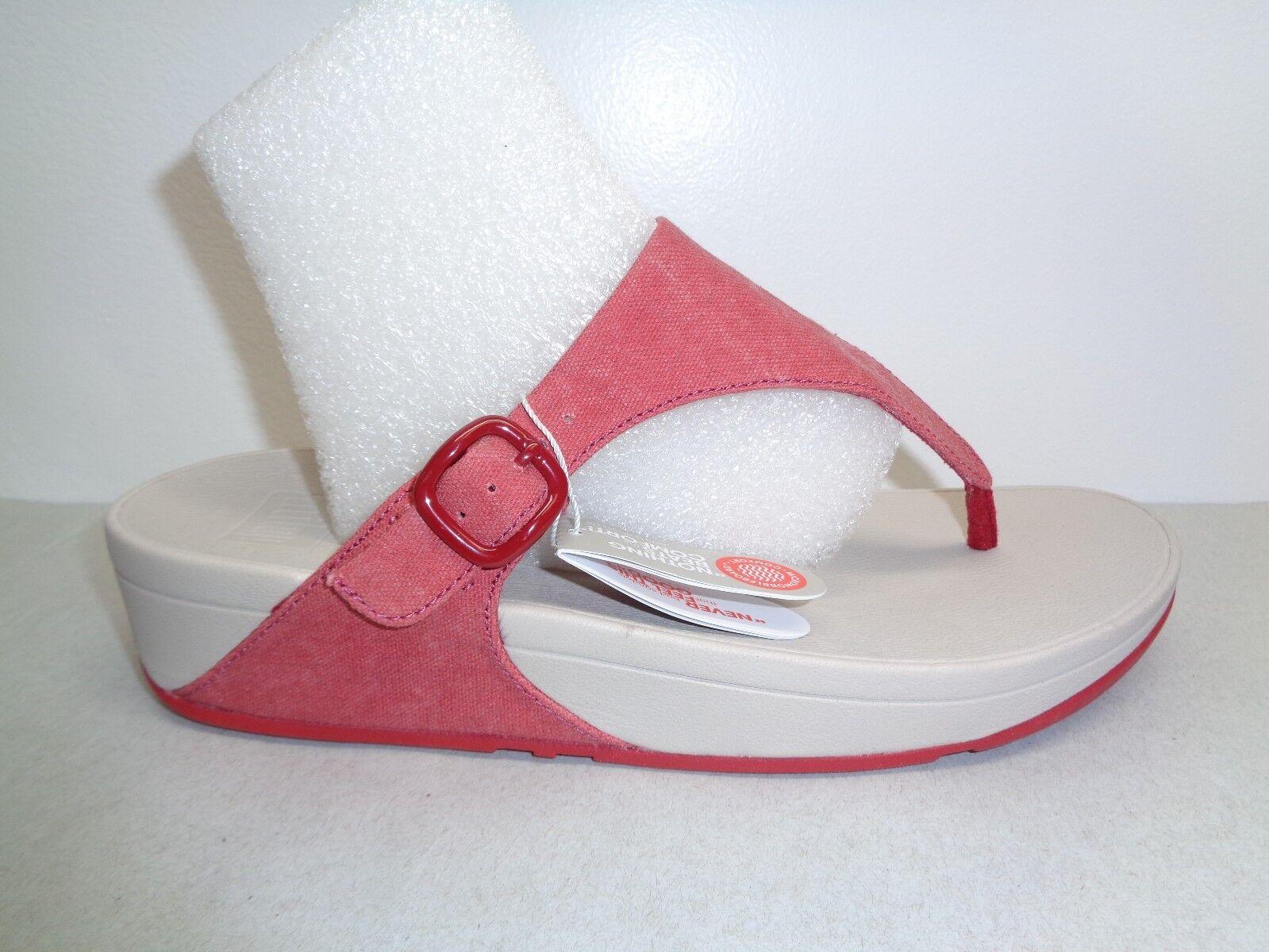 FitFlop Größe 9 THE SKINNY Classic ROT Thong Flip Flops Sandales NEU Damenschuhe Schuhes