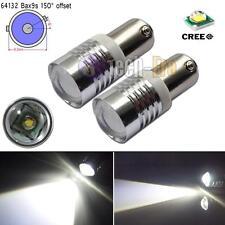 2pcs Xenon White BAX9S H6W 433C 434 150° High Power CREE LED Car Bulbs Lights