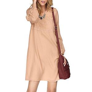 genial-Kleid-Gr-40-42-Rose-Nude-Puder-Marken-CASUAL-ABEND-Buero-ALLROUNDER-Chic
