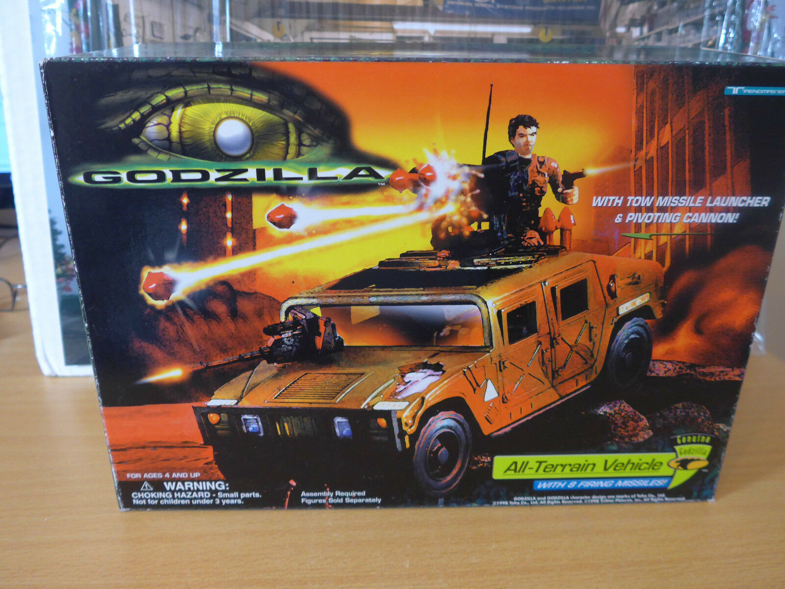 Genuine Godzilla Hummer  All Terrain vehicle with 8 Firing missiles