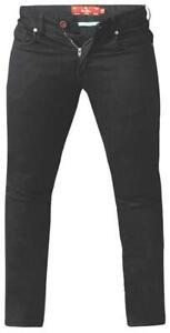 CLAUDE-KS-D555 Coupe Fuseau Jeans Extensible en Noir