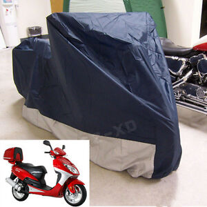 Waterproof-Motorcycle-Cover-Sheet-Motorbike-Moped-Scooter-Rain-Medium-Size