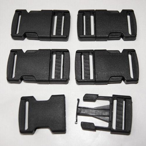 Steckschnalle 25mm Steckschließer Kunststoff Schwarz Steckverschluss Gurtband
