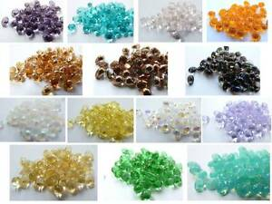 60-x-6-4MM-CZECH-GLASS-MINI-TEARDROP-BEADS-CHOICE-OF-COLOURS