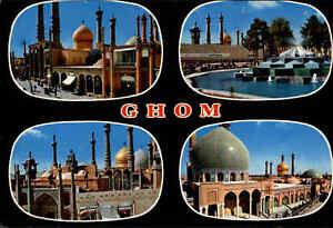 Postkarte-Postcard-Persien-GHOM-Iran-Multi-View-with-4-photos-Mehrbild-AK