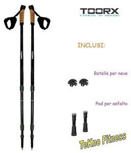 cheap for discount 0e590 b0d9b Dettagli su COPPIA BASTONCINI PER NORDIC WALKING E TREKKING, TOORX - AHF-084