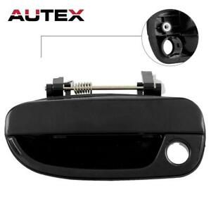 fits Hyundai Outside Outer Exterior Door Handle Driver Rear Left Black Smooth