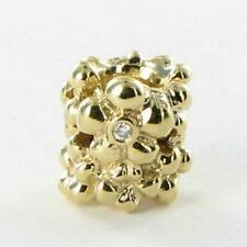 Pandora 750344D Bead Charm Diamond Daisy 0.02ct 14k Yellow Gold RETIRED New $600