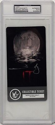 Cheap Sale Andy Muschietti Signed Stephen King's 'it' Collectible Ticket Psa Slabbed 062662 Moderate Price Movies Cards & Papers