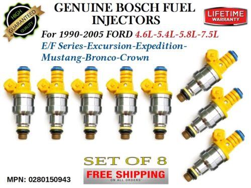 8x Genuine Bosch Fuel Injectors for 1990-2005 Ford 4.6L-5.4L-5.8L-7.5L MPN:FJ713