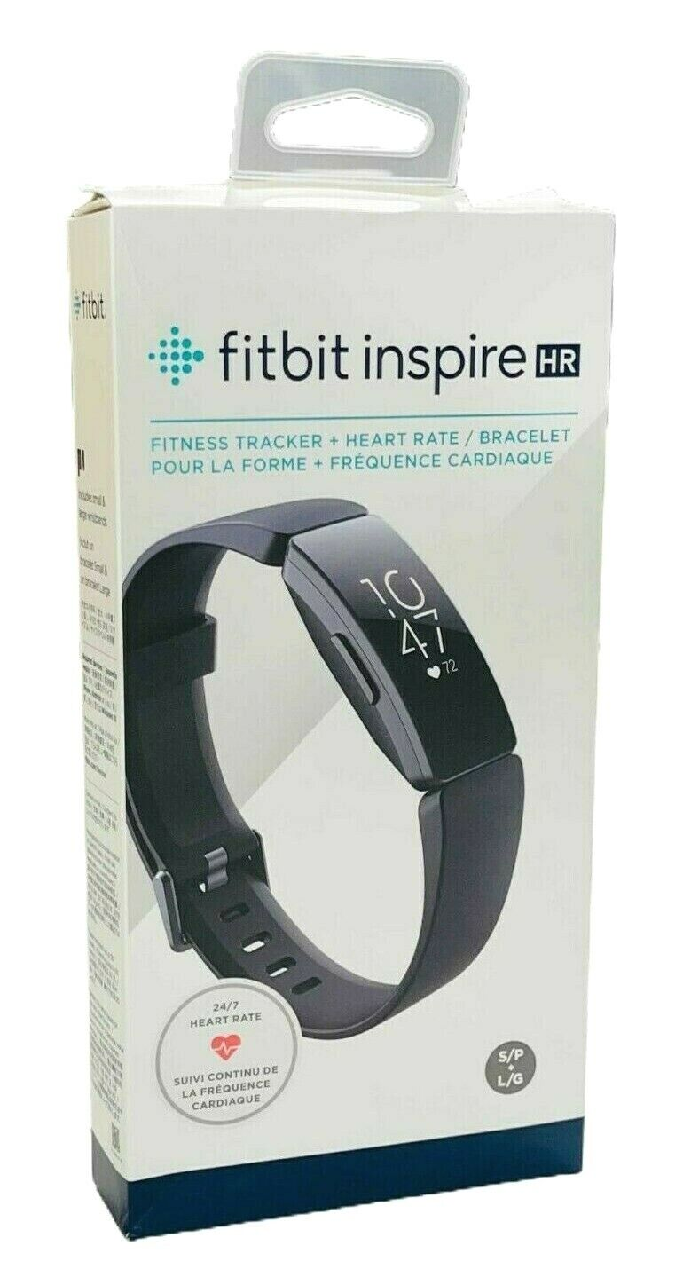Fitbit Inspire HR Heart Rate & Fitness Tracker, One Size - S & L Bands Included
