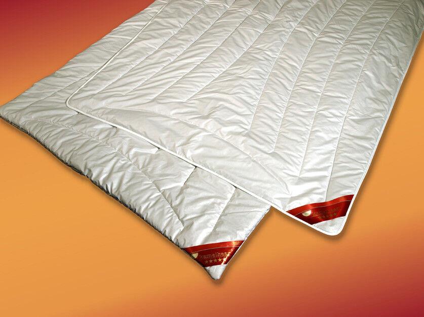 Kamelhaar Trio-Steppbett  warm  extra warmes Winterbett 100% Naturhaar Baumwolle