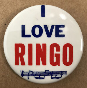 I-Love-Ringo-Button-Pin-2-034-Collectible-The-Beatles-Pin-Made-in-USA