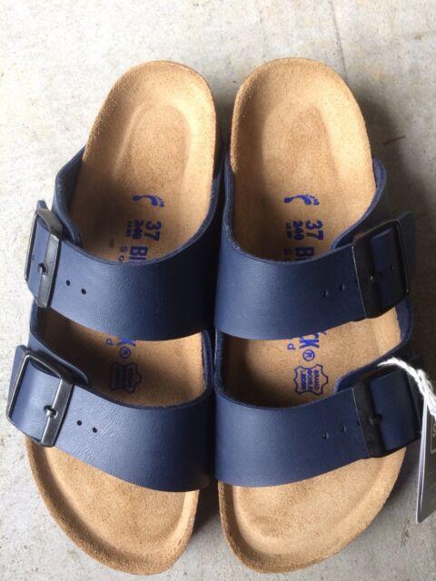 Women's new Birkenstock Arizona blue Birkoflor soft footbed sandals  6 N / 37