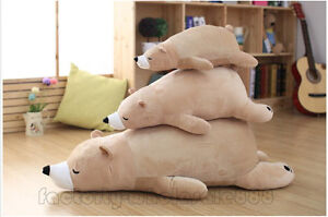 Polar-Bear-Plush-Toys-Doll-Soft-Pillow-Stuffed-Animals-Xmas-Gifts-Japan-Cushion