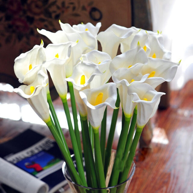 Calla Blüht Nicht : wei k nstliche latex calla lilie bl ht blumenstrau garden hochzeits r4l8 ebay ~ Watch28wear.com Haus und Dekorationen