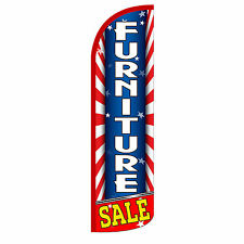 Furniture Sale Flag Only Sign Banner Windless Feather 3 Wide Super Swooper Red