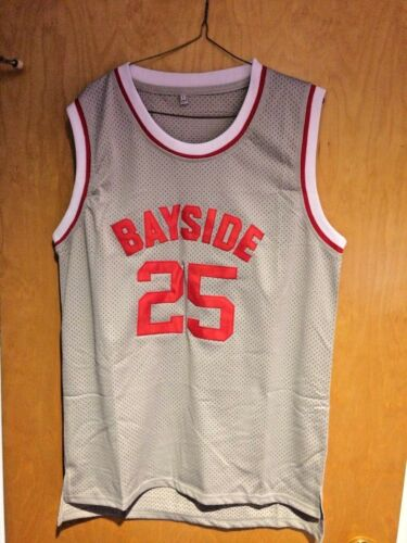 XL 2XL Saved By The Bell Zack Morris #25 Bayside HS Basketball Jersey S M L