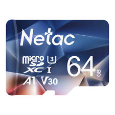 Netac 64GB Micro SD Card + Adapter 100MB/S Memory Card TF Card for Phone/Camera