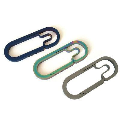 Useful EDC Outdoor Titanium Alloy Key Ring Car Keychain Carabiner Hook Gift CA