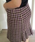 CUE WOMENS SKIRT Pleated KNIT LINED LAMA BLEND MADE IN AU Work Party SZ 12