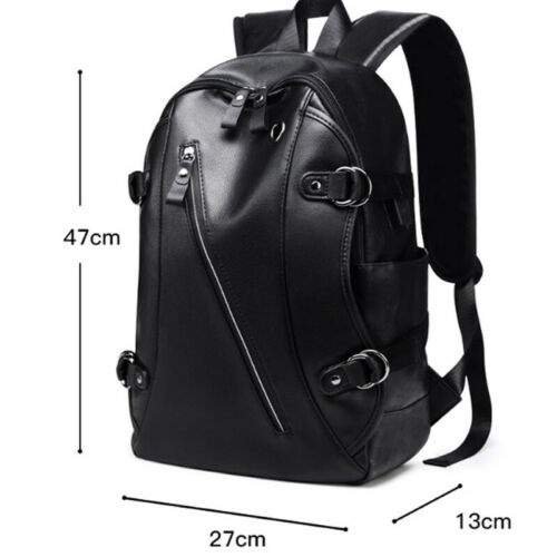 Women Men Vintage Leather Backpack Briefcase Shoulder Travel School Rucksack Bag