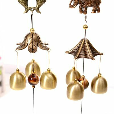 1 Pc Wind Chime 8 Tubes Bronze Metal Professional Gift for Yard Outdoor Garden
