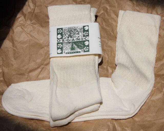 Organic Threads Cotton Socks Mid Calf CREW USA MADE MENS athletic XL13-15 sports