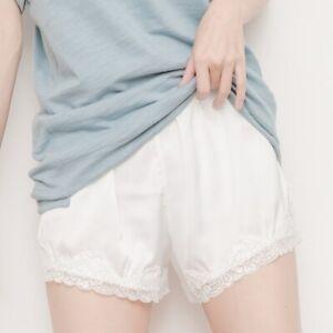 Lady Shorts Imitated Silk Elastic Waist Casual Hot Pants Knicker Underwear Hot