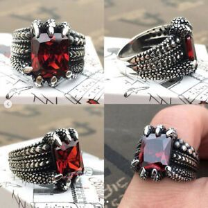 NATIVE EAGLE FEATHER 925 STERLING SILVER MEN/'S WOMEN/'S GOTHIC BIKER RING nd-r031