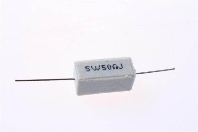 15 Pcs 5W Watt 2 Ohm 5/% Tolerance Ceramic Cement Power Resistor White