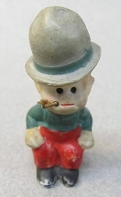 MICKEY McGUIRE Toonerville Trolly 1930s German Nodder bisque figure GRAY HAT