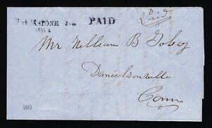 1851-STAMPLESS-COVER-BLACKSTONE-MA-TO-DANIELSONVILLE-CT-PSE-CERT-YALE-UNIV