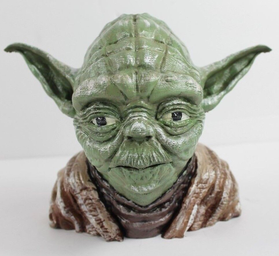Star Wars Yoda Head 3D Printed Professionally Painted One of a Kind