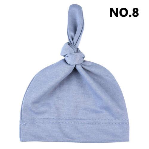 Cute Baby Newborn Toddler Infant Boys Girls Cotton Knot Sleep Hat Cap Beanie