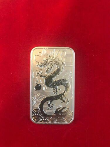 2018 Dragon Rectangular 1 oz Silver Coin