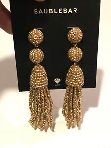 df07743f3cfb Image is loading Granita-Beaded-Tassel-Earrings-BAUBLEBAR-Gold-Tone
