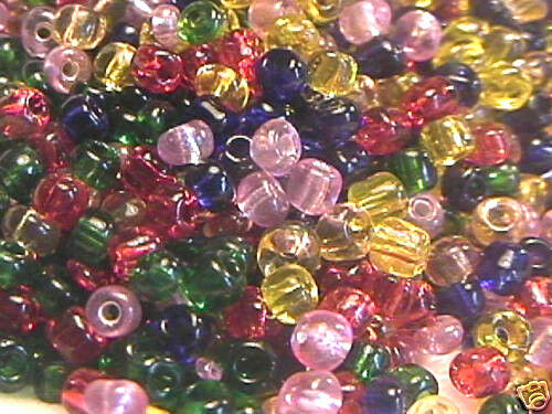 28g or 1 oz bag Size 6 Mixed Colors Glass Seed Beads 6//0 400+//-