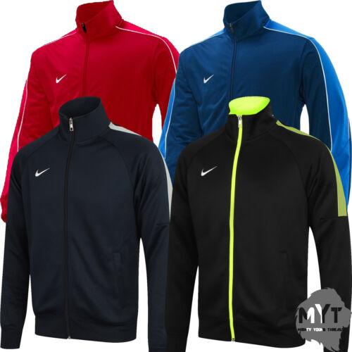New Nike Men's Team Poly Club Full Zip Tracksuit Top Trainer Jacket Football