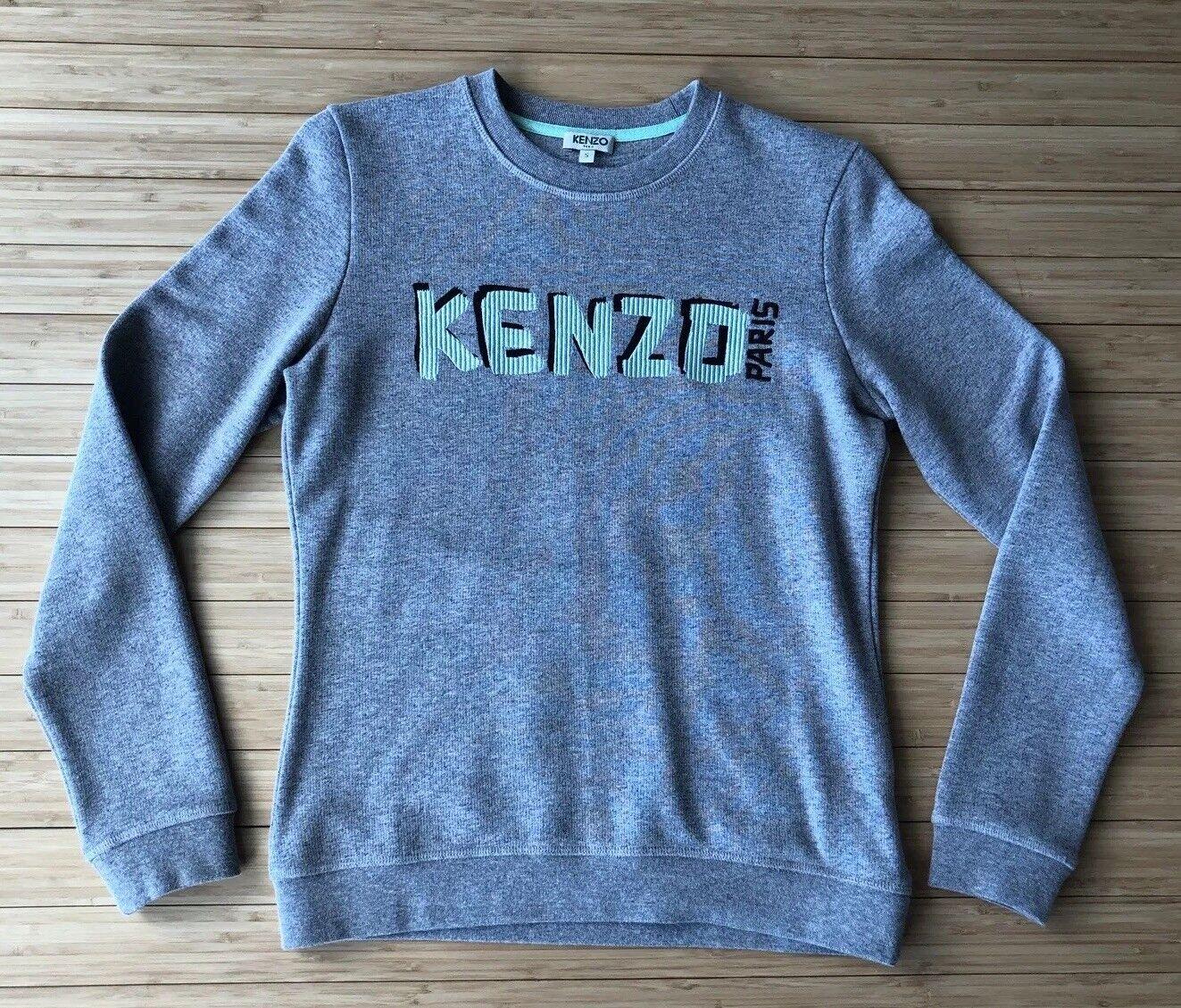 KENZO Light Cotton Logo Sweatshirt. Size SMALL. Pre-Owned.