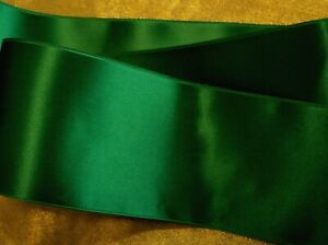 """SPRING MOSS GRN 4/"""" WIDE SWISS DOUBLE FACE SATIN RIBBON"""